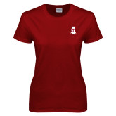 Ladies Cardinal T Shirt-Perched Owl T