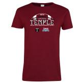 Ladies Cardinal T Shirt-Temple 2018 Independence Bowl