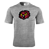 Performance Grey Heather Contender Tee-Owl Head
