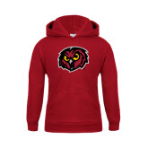 Youth Cardinal Fleece Hoodie-Owl Head