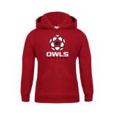 Youth Cardinal Fleece Hoodie-Owls Soccer Geometric Ball