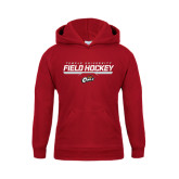 Youth Cardinal Fleece Hoodie-Temple University Field Hockey Stencil