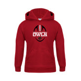 Youth Cardinal Fleece Hoodie-Temple University Owls Football Vertical
