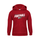 Youth Cardinal Fleece Hoodie-Football Slanted