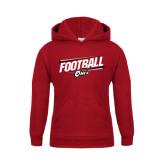 Youth Cardinal Fleece Hoodie-Football Slanted