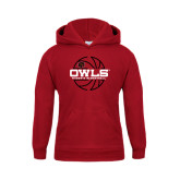 Youth Cardinal Fleece Hoodie-Owls Womens Basketball w/Lined Ball