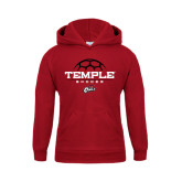 Youth Cardinal Fleece Hoodie-Temple Soccer Half Ball