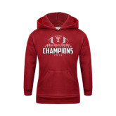 Youth Cardinal Fleece Hoodie-2016 AAC East Division Football Champions