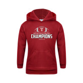 Youth Cardinal Fleece Hoodie-2016 AAC Football Champions