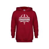 Youth Cardinal Fleece Hoodie-Bad Boy Mowers Gasparilla Bowl Champions - Gradient