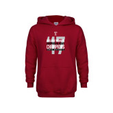 Youth Cardinal Fleece Hoodie-Bad Boy Mowers Gasparilla Bowl Champions - Year