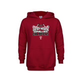 Youth Cardinal Fleece Hoodie-Bad Boy Mowers Gasparilla Bowl Champions - Stadium