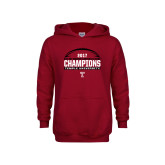 Youth Cardinal Fleece Hoodie-Bad Boy Mowers Gasparilla Bowl Champions - Football