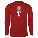 Syntrel Performance Cardinal Longsleeve Shirt-Vintage Owl Atop T