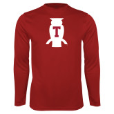 Syntrel Performance Cardinal Longsleeve Shirt-Perched Owl T