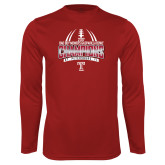 Performance Cardinal Longsleeve Shirt-Bad Boy Mowers Gasparilla Bowl Champions - Gradient