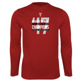 Performance Cardinal Longsleeve Shirt-Bad Boy Mowers Gasparilla Bowl Champions - Year