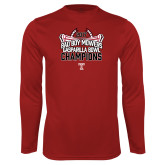 Performance Cardinal Longsleeve Shirt-Bad Boy Mowers Gasparilla Bowl Champions - Stadium