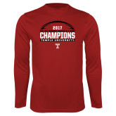 Performance Cardinal Longsleeve Shirt-Bad Boy Mowers Gasparilla Bowl Champions - Football