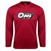 Syntrel Performance Cardinal Longsleeve Shirt-Temple Owl Club