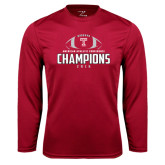 Syntrel Performance Cardinal Longsleeve Shirt-2016 AAC Football Champions