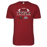 Next Level SoftStyle Cardinal T Shirt-Temple 2018 Independence Bowl