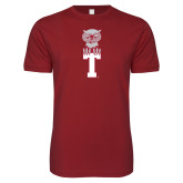 Next Level SoftStyle Cardinal T Shirt-Vintage Owl Atop T