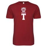 Next Level SoftStyle Cardinal T Shirt-Vintage Owl Atop T