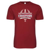 Next Level SoftStyle Cardinal T Shirt-Bad Boy Mowers Gasparilla Bowl Champions - Gradient