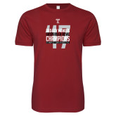 Next Level SoftStyle Cardinal T Shirt-Bad Boy Mowers Gasparilla Bowl Champions - Year
