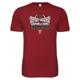 Next Level SoftStyle Cardinal T Shirt-Bad Boy Mowers Gasparilla Bowl Champions - Stadium
