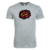 Next Level SoftStyle Heather Grey T Shirt-Owl Head