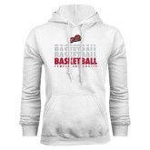 White Fleece Hoodie-Temple University Basketball Repeating