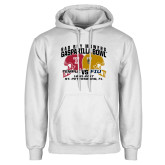 White Fleece Hoodie-Bad Boy Mowers Gasparilla Bowl - VS Design
