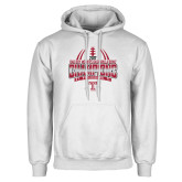 White Fleece Hoodie-Bad Boy Mowers Gasparilla Bowl Champions - Gradient