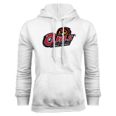 White Fleece Hoodie-Field Hockey