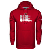 Under Armour Cardinal Performance Sweats Team Hood-Temple University Basketball Repeating