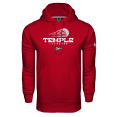 Under Armour Cardinal Performance Sweats Team Hood-Temple Lacrosse Modern