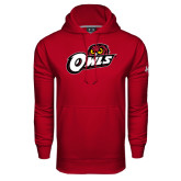 Under Armour Cardinal Performance Sweats Team Hoodie-Owls w/Owl Head