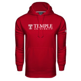 Under Armour Cardinal Performance Sweats Team Hood-University Mark