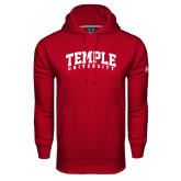 Under Armour Cardinal Performance Sweats Team Hood-Arched Temple University