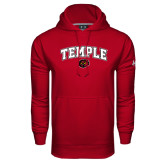 Under Armour Cardinal Performance Sweats Team Hoodie-Arched Temple w/ Owl Head