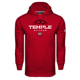 Under Armour Cardinal Performance Sweats Team Hoodie-Temple Soccer Half Ball