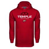 Under Armour Cardinal Performance Sweats Team Hoodie-Temple Soccer Half Ball