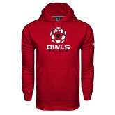 Under Armour Cardinal Performance Sweats Team Hoodie-Owls Soccer Geometric Ball