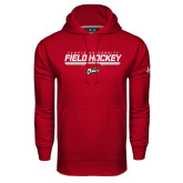 Under Armour Cardinal Performance Sweats Team Hood-Temple University Field Hockey Stencil