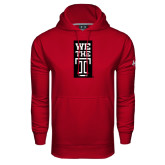Under Armour Cardinal Performance Sweats Team Hood-We The T Vertical
