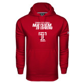 Under Armour Cardinal Performance Sweats Team Hoodie-Mayhem Is Coming