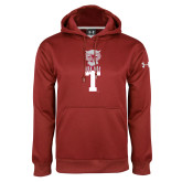 Under Armour Cardinal Performance Sweats Team Hood-Vintage Owl Atop T