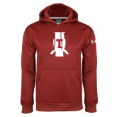 Under Armour Cardinal Performance Sweats Team Hood-Perched Owl T